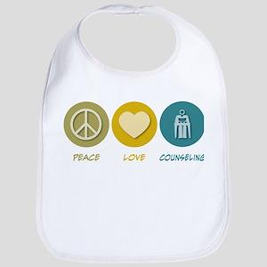 Peace Love Counseling Bib