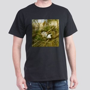 Cat in a Bush Dark T-Shirt