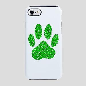 Foliage Dog Paw Print iPhone 8/7 Tough Case