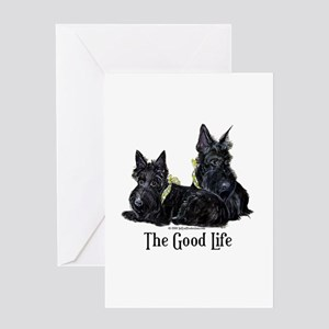 Scottish Terrier Good Life Do Greeting Card