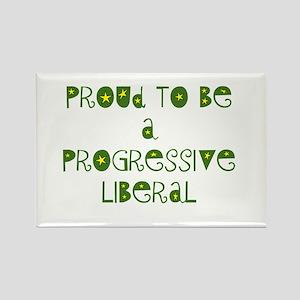Proud Progressive Liberal Rectangle Magnet