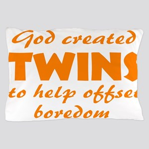 Funny twins Pillow Case