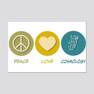 Peace Love Cosmology Mini Poster Print