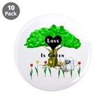 "Love Is Green 3.5"" Button (10 pack)"