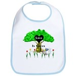 Love Is Green Bib