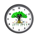 Love Is Green Wall Clock