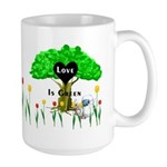 Love Is Green Large Mug