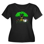 Love Is Green Women's Plus Size Scoop Neck Dark T-