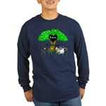 Love Is Green Long Sleeve Dark T-Shirt