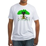 Love Is Green Fitted T-Shirt