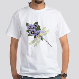 PurplePansyDragonfly-Transparent T-Shirt