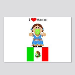 I Love Mexico Postcards (Package of 8)