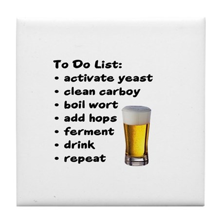 To Do List Tile Coaster