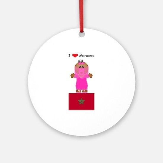 I Love Morocco Keepsake (Round)
