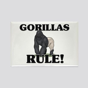Gorillas Rule! Rectangle Magnet
