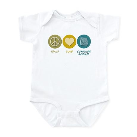 Peace Love Computer Science Infant Bodysuit