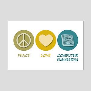 Peace Love Computer Engineering Mini Poster Print