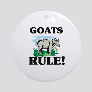 Goats Rule! Ornament (Round)