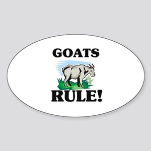 Goats Rule! Oval Sticker