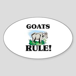 Goats Rule! Oval Sticker