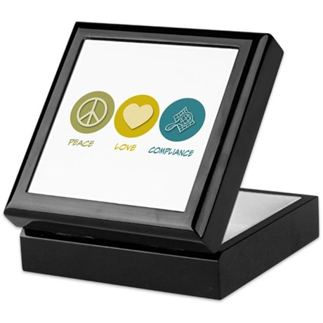 Peace Love Compliance Keepsake Box
