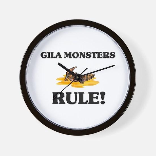Gila Monsters Rule! Wall Clock