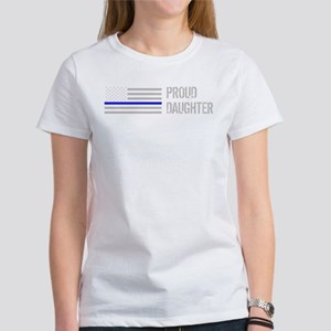 Proud Police Daughter Women's Dark T-Shirt