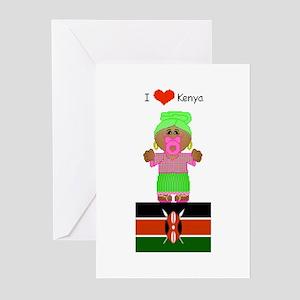 I Love Kenya Greeting Cards (Pk of 10)