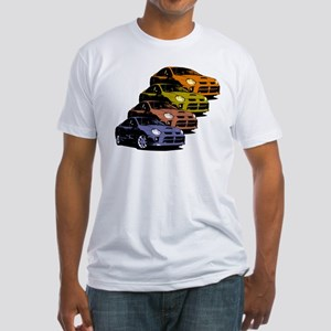 Colorized Neon SRT-4's Fitted T-Shirt