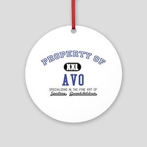 Property of Avo Ornament (Round)