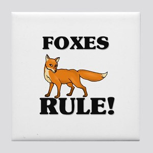Foxes Rule! Tile Coaster