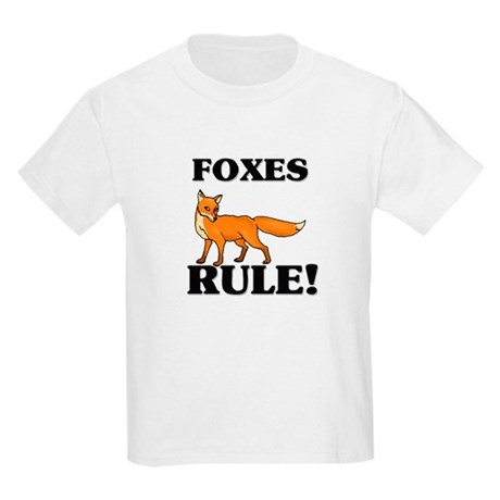Foxes Rule! Kids Light T-Shirt