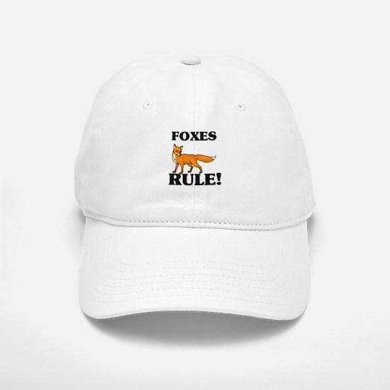 Foxes Rule! Baseball Baseball Cap