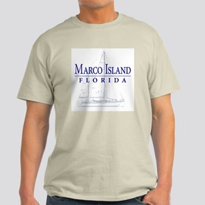 Marco Island Sailboat - Light T-Shirt