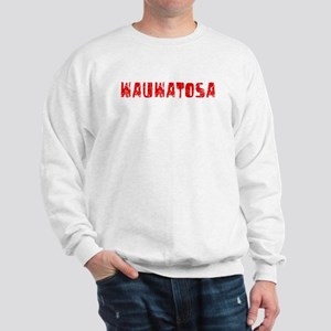 Wauwatosa Faded (Red) Sweatshirt
