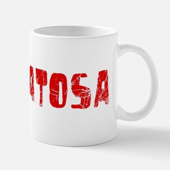 Wauwatosa Faded (Red) Mug