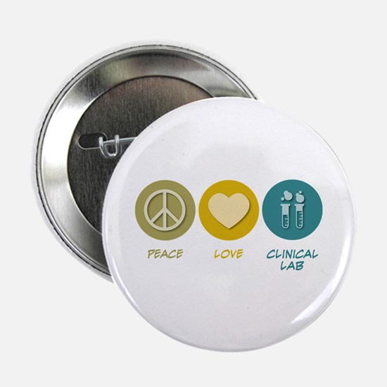 "Peace Love Clinical Lab 2.25"" Button (10 pack"