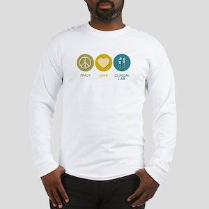 Peace Love Clinical Lab Long Sleeve T-Shirt