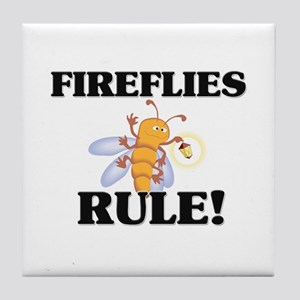 Fireflies Rule! Tile Coaster