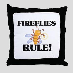 Fireflies Rule! Throw Pillow