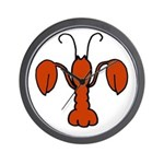 Lobster fleur De Lis Wall Clock