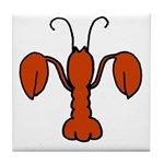 Lobster fleur De Lis Tile Coaster