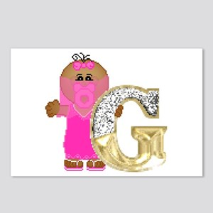 Baby Initials - G Postcards (Package of 8)