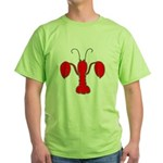 Fleur De Craw: Crawfish Fleur Green T-Shirt