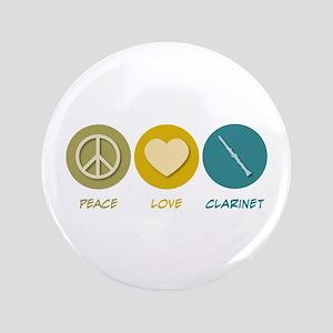 "Peace Love Clarinet 3.5"" Button"