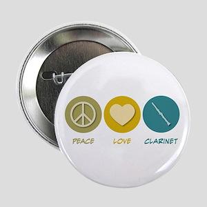 "Peace Love Clarinet 2.25"" Button"