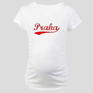 Vintage Praha (Red) Maternity T-Shirt