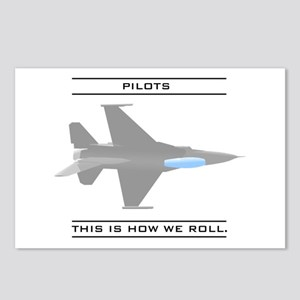 Pilots: How We Roll Postcards (Package of 8)