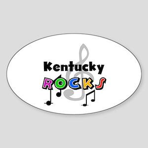 Kentucky Rocks Oval Sticker