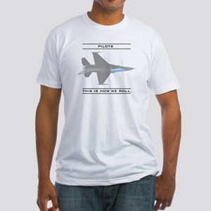 Pilots: How We Roll Fitted T-Shirt